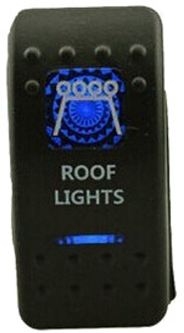 Roof Lights Rocker Switch (Blue)