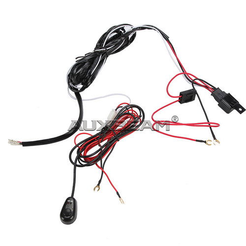 12V 40A LED Light Bar Wiring Harness Kit (Single Light)