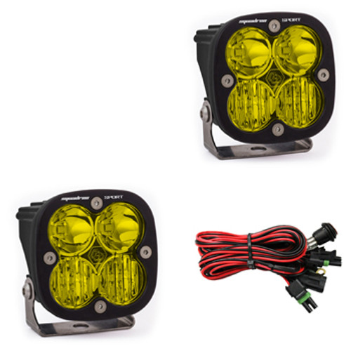Baja Designs Squadron Sport, Pair Amber LED Driving/Combo
