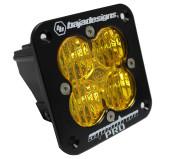 Baja Designs Squadron Pro, Flush Mount, LED Wide Cornering, Amber