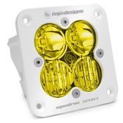 Baja Designs Squadron Sport, White, Flush Mount LED Driving/Combo, Amber