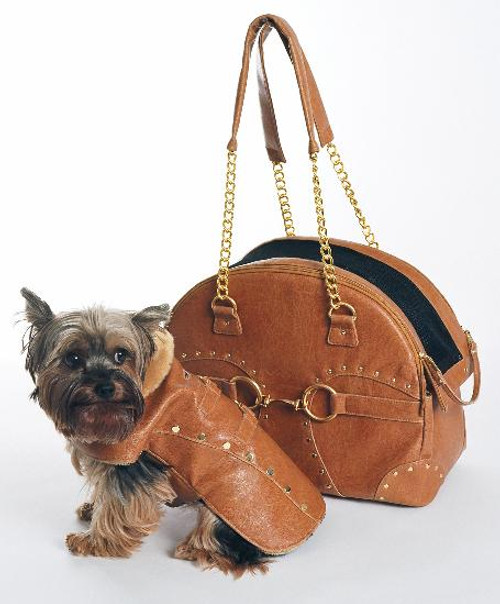 Tan Soho Carrier by New York Dog