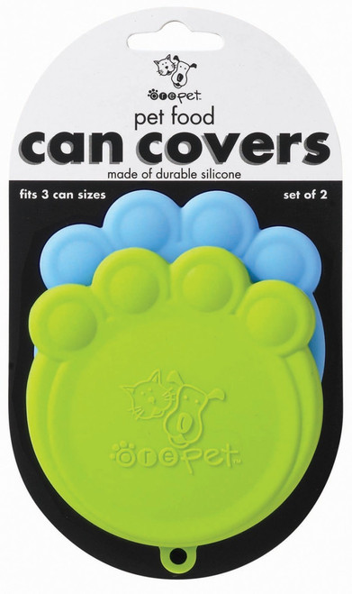 Blue & Green Paw Can Cover Set