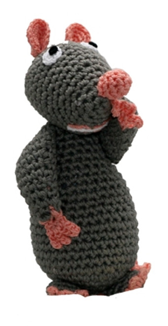 Gray Mouse Crochet Toy