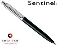 Sheaffer Sentinel Brushed Chrome & Black C/T Ballpoint Pen