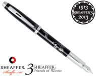 Sheaffer 100 3 Friends of Winter, Pine Design Fountain Pen Fine