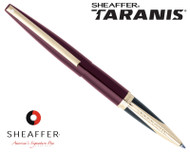 Sheaffer Taranis Stormy Wine Featuring Gold Plate Trim Rollerball Pen