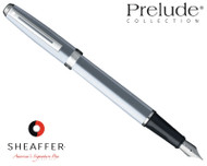 Sheaffer Prelude Brushed Chrome N/T Fountain Pen
