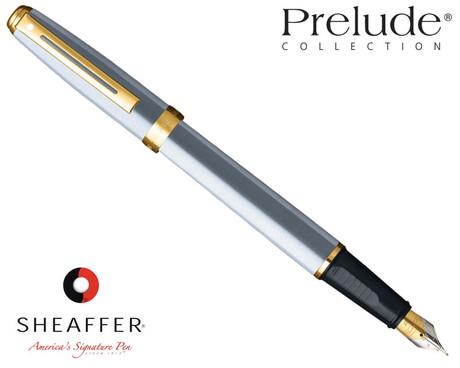 Sheaffer Prelude Brushed Chrome G/T Fountain Pen