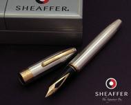 Sheaffer Legacy Heritage Sterling Silver Interrupted Barleycorn G/T Fountain Pen Medium