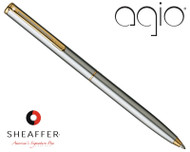 Sheaffer Agio Brushed Chrome G/T Ballpoint Pen