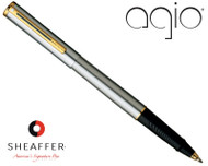 Sheaffer Agio Brushed Chrome G/T Rollerball Pen