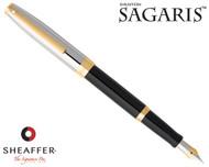 Sheaffer Sagaris Black Barrel Chrome Cap Fountain Pen