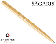 Sheaffer Sagaris Fluted Gold Tone Cap and Barrel Ballpoint Pen
