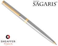 Sheaffer Sagaris Brushed Chrome with Gold Trim Ballpoint Pen