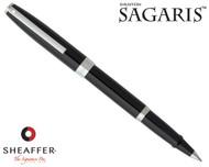 Sheaffer Sagaris Gloss Black with Silver Trim Rollerball Pen
