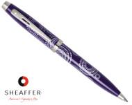 Sheaffer 100 Gloss Purple Pattern Ballpoint Pen