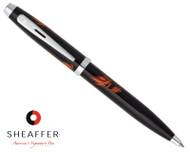 Sheaffer 100 Gloss Black Hades Flames Ballpoint Pen