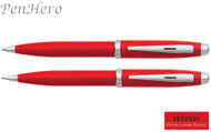 Sheaffer Ferrari 100 Red Ballpoint Pen & 0.7mm Pencil Set