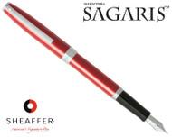 Sheaffer Sagaris Metallic Red with Silver Trim Fountain Pen