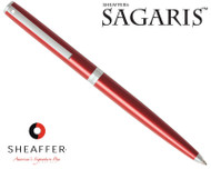 Sheaffer Sagaris Metallic Red with Silver Trim Ballpoint Pen