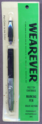 Wearever Felt Tip Cartridge Marking Pen Black