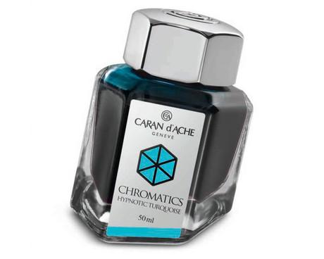 Caran d'Ache Hypnotic Turquoise Ink Bottle
