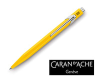 Caran d'Ache 849 Metal Yellow Ballpoint Pen