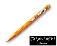 Caran d'Ache 849 Metal Fluorescent Orange Ballpoint Pen