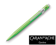 Caran d'Ache 849 Metal Fluorescent Yellow Green Ballpoint Pen