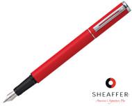 Sheaffer Award Matte Red Fountain Pen Medium