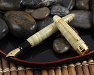 Classic Pens LB5 King Profit Tairiku Marble White Limited Edition Fountain Pen