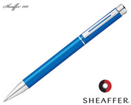 Sheaffer 200 Matte Metallic Blue / Chrome Trim Ballpoint Pen