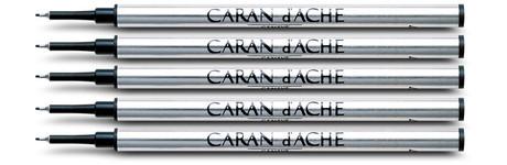 Caran d'Ache Blue Fibre Ink Cartridge Fine Point 5 Pack