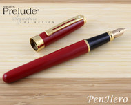Sheaffer Prelude Signature Red Laque G/T Fountain Pen Medium