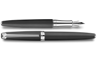 Caran d'Ache Leman Black Matte Silver-Plate Trim Fountain Pen Medium