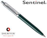 Sheaffer Sentinel Brushed Chrome & Green C/T 0.7mm Pencil