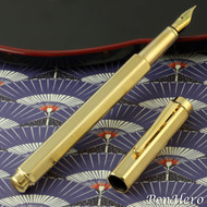 Caran d'Ache Ecridor Chevron Gold Fountain Pen Fine