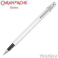 Caran d'Ache 849 Metal White Fountain Pen