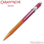 Caran d'Ache 849 Tropical Carmine Red to Tangerine Orange Ballpoint Pe