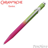 Caran d'Ache 849 Tropical Leaf Green to Fuchsia Pink Ballpoint Pen