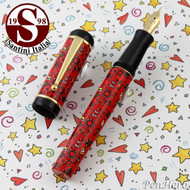 Santini Italia Hawaii Red Fountain Pen Fine