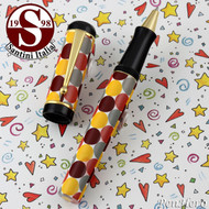 Santini Italia Pois Rust Yellow Brown Polka Dots Rollerball Pen