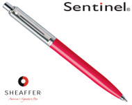 Sheaffer Sentinel Brushed Chrome & Deep Pink C/T Ballpoint Pen