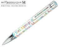 The Metropolitan Museum of Art De Harak White Logo Ballpoint Pen