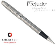 Sheaffer Prelude Signature Palladium Plate with Engraved Imperial Pattern Rollerball Pen