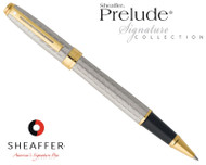 Sheaffer Prelude Signature Silverplate with Engraved Snakeskin Pattern Rollerball Pen
