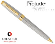 Sheaffer Prelude Signature Silverplate with Engraved Snakeskin Pattern Ballpoint Pen