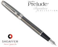 Sheaffer Prelude Signature Gunmetal Ceramic with Engraving Fountain Pen Medium