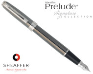 Sheaffer Prelude Signature Gunmetal Ceramic with Engraving Fountain Pen Medium